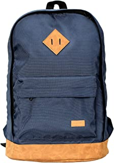Promate Travel Laptop Backpack,Multifunctional Water Resistant Retro with Large Secure Capacity,Accessories Pocket and Adjustable Strap for MacBook Pro, iPad Pro, Lenovo, HP,Drake-2 Blue