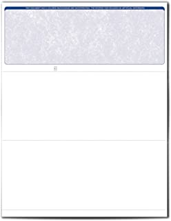 VersaCheck ValueChex Blank Check Paper - Form #1000 Business Voucher Check on Top - Blue - Classic - 500 Sheets/500 Checks
