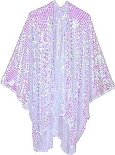 iridescent sequin kimono