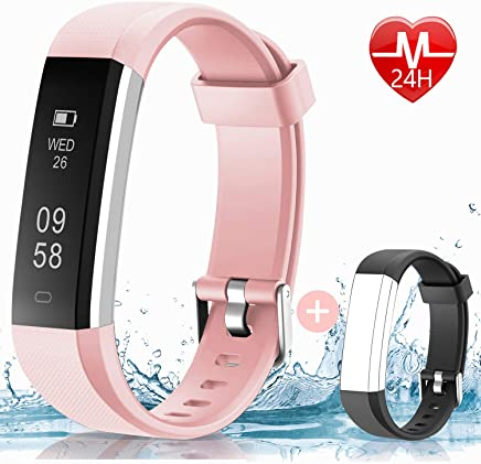 HolyHigh 115U HR Fitness Band, [Updated] Activity Tracker Watches with Heart Rate Monitor Sleep Tracker Pedometer Calories Counter Call SMS Notification Alarm Reminder for Mens Women Kids
