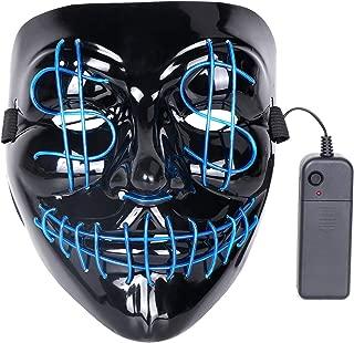 DINO Halloween Mask Terror Light Emitting LED Mask Halloween Role Playing Lighting Mask