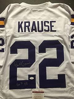 Autographed/Signed Paul Krause