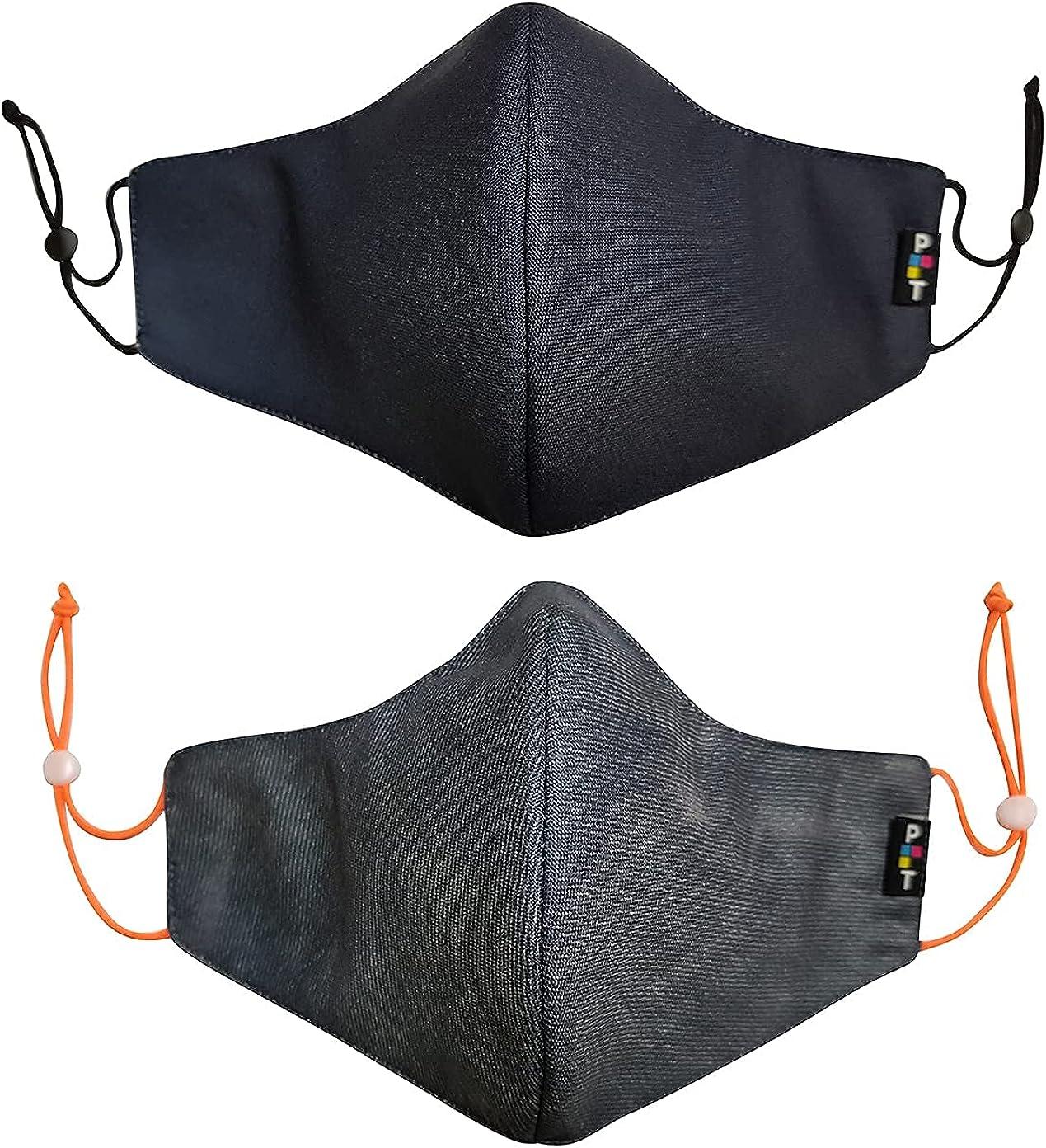 PRINT TODAY Pack 2 Mascarillas de Tela Reutilizables y homologadas Medida: 29,00 cm x 15,50 cm (Talla L) | Regalo 10 mascarillas