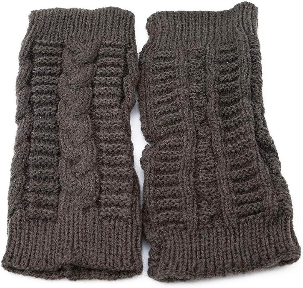 Sevenfly 1 Pairs Women Winter Warm Knit Fingerless Gloves Hand Crochet Thumbhole Arm Warmers Mittens