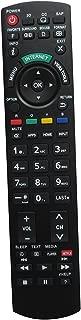 Hotsmtbang Replacement Remote Control with Netflix APP Button for Panasonic TC-32LX24 TC-42LD24 TC-L37E5X TC-L42E5X TC-L47E5X TC-L42E50 TC-L47E50 TC-L55E50 TC-L42D30 TH-42PX80 Viera LED HDTV TV