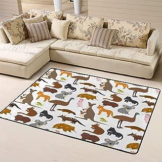 Doormats Area Rug Rugs Australia Wild Animals Cartoon Popular Nature Australian Mammal Aussiefloor Mat for Home Decor 60