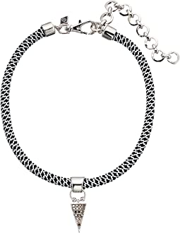 Rebecca Minkoff - Climbing Rope Choker Necklace with Charm Drop