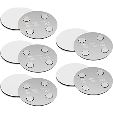 5-Pack Magnetic Smoke Detector Mount MA02 No Drilling or Screws Magnetic Adhesive Pads for Smoke Alarms /Ø 70 mm
