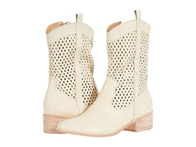 KAANAS Nebbiolo Perforated Texan Bootie (Ivory) Women
