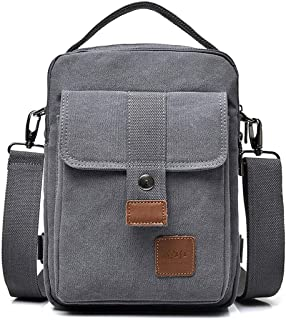 Mens Bag Canvas Shoulder Bags Travel Bag Man Purse Crossbody Bags for Work Business Men's Bag Messenger Bag High capacity