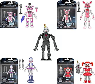 Funko Five Nights at Freddy's Sister Location Funtime Freddy, Ballora, Baby, Funtime Foxy (Build Ennard) 5-Inch Action Figures SET