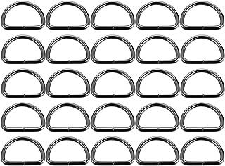 Garneck Anel D semircircular de metal 20 peças para bolsas de ferragens, correia para animais de estimação, anel de cinto ...