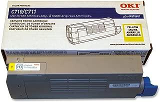 Okidata 44318601 C711 Toner Cartridge (Yellow) in Retail Packaging