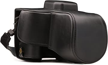 MegaGear Ever Ready Leather Camera Case Compatible with Canon EOS Rebel SL3, Kiss X10, Rebel SL2, Kiss X9 18-55mm Lens