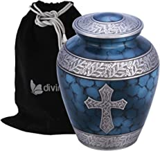 Divinityurns Elite Cross Cloud Cremation Urn - Large Adult Urn - Urn for Ashes - Handcrafted Affordable Urn for Human Ashe...