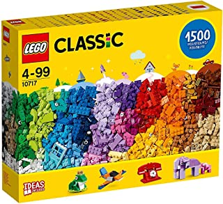 LEGO Classic Bricks Set - 10717   1500 Pieces   for Ages 4-99   Plastic   3 Levels of Building Complexity   Handy Brick Separator