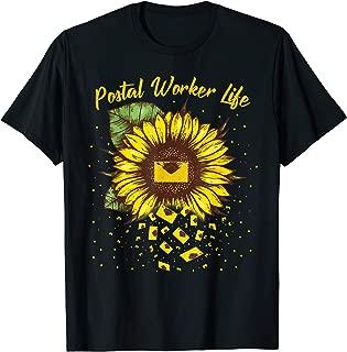 Postal Worker Life Shirts Postman Gift Sunflower Deliverer T-Shirt