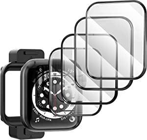 TAURI [4 Pack Compatible with Apple Watch Series 3/2/1 42mm Screen Protector, 3D Curved Edge Scratch-Resistant Bubble Free HD Full Coverage, Waterproof Flexible Protector Film for iWatch 42mm