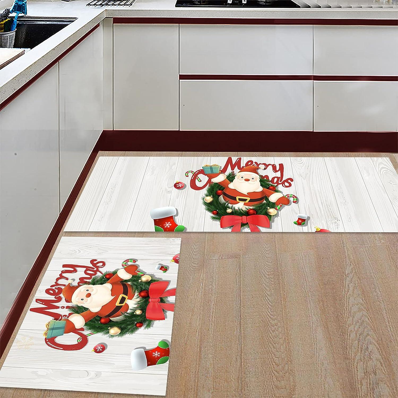 Anmevor Kitchen Max 40% OFF Rug Sets 2 Piece Ranking TOP15 Rugs Mats Non-Slip Merry Door