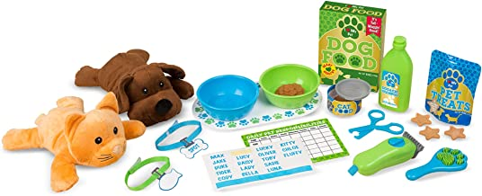 Melissa & Doug Feeding & Grooming Pet Care Play Set (24 Pieces, Great Gift for Girls and Boys - Best for 3, 4, and 5 Year Olds)