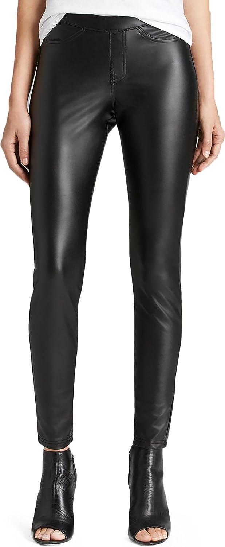 Hue Leatherette Leggings Black Large (1618)