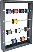 AdirPro Wire Spool Rack - Superior Strength Wire/Cable Dispenser - Conduit Display & Storage for Electrical Industrial & Retail Use (4 Rods, Grey)