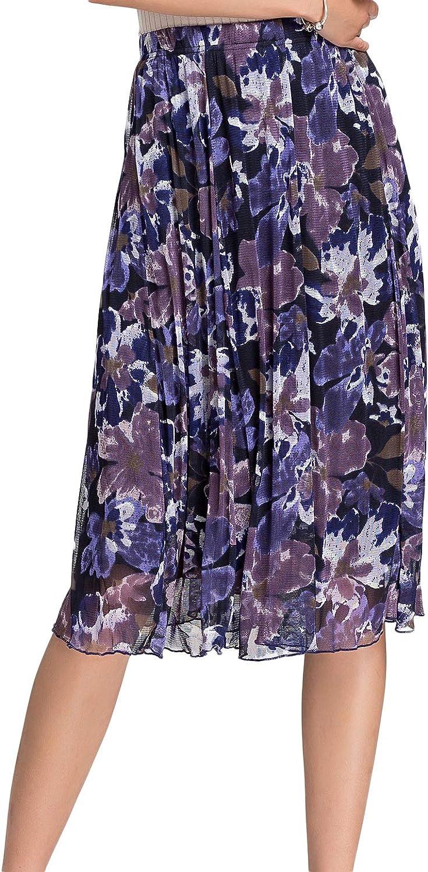 Alexander Women's Pure Mulberry Silk Polka Dots Printed Skirt