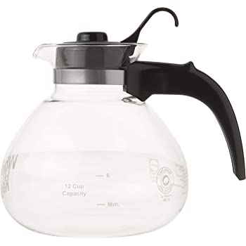CAFÉ BREW COLLECTION Glass Cafe Brew 12 Cup Stovetop Whistling Kettle, c