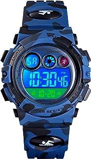 Kids Digital Military Watch Calendar Alarm School Sport 5ATM Waterproof LED Stopwatch Age 7-12 Wristwatch for Children Boy...