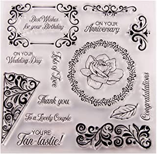 Wedding Married Anniversary Stamp Rubber Clear Stamp/Seal Scrapbook/Photo Album Decorative Card Making Clear Stamps