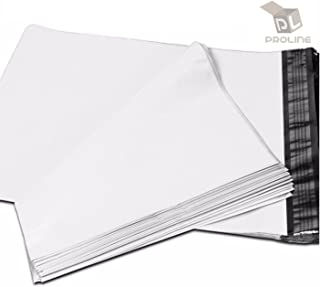 24 x 24 Inch ProLine Packaging Supplies White Poly Mailers Self-Sealing Shipping Envelopes Plastic Mailing Bags 2.5 Mil Thickness 24