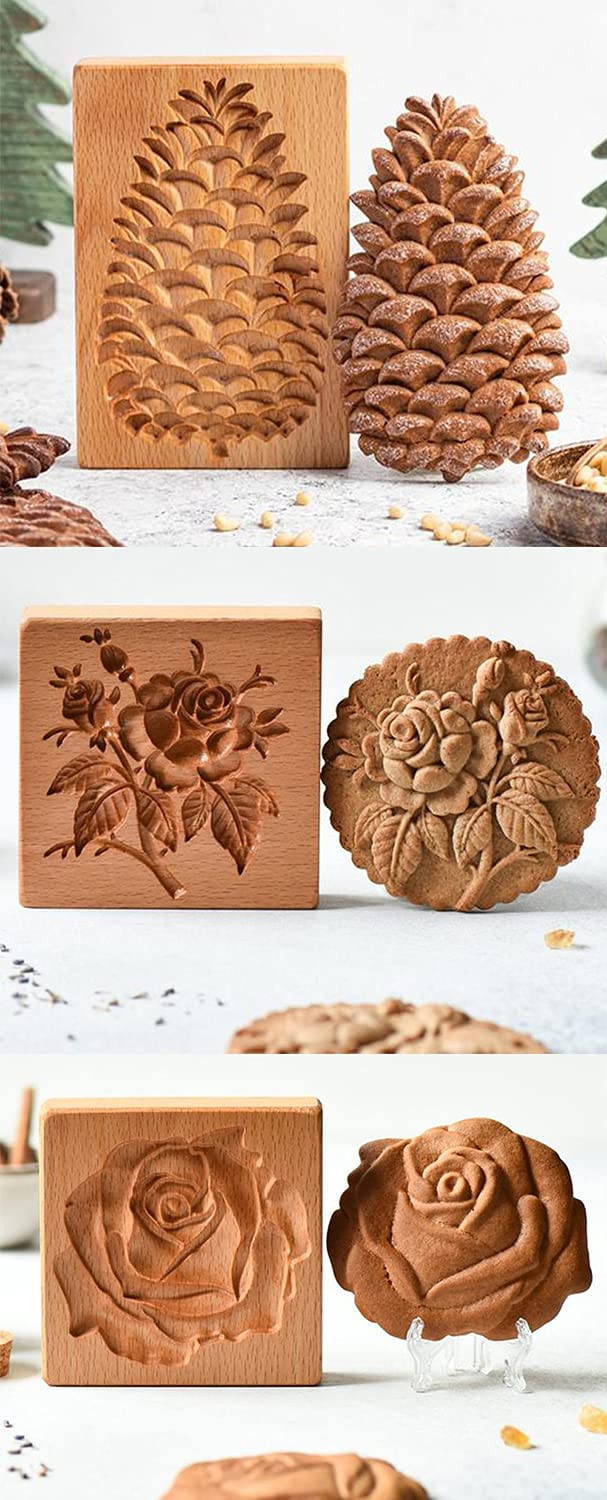 Cookie Cutter Embossing Detroit Mall Mold Pinecone Stam Rose New York Mall Provence