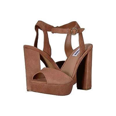 Steve Madden Madeline Platform Sandal (Tan 1) High Heels