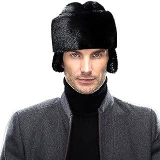 Mink Fur Russian Cossack Hat Winter Mens Cap
