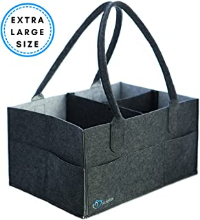 Baby Diaper Caddy Organizer - Storage Bin for Diapers, Wipes and Kid Toys - Baby Shower Gift Basket - Nursery Bag for Boys or Girls - Large Portable Car Travel Tote - Registry Essential