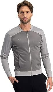 Dry Fit Bomber Jacket Men, Mens Full Zip Running Jackets, Lightweight, Slim Fit