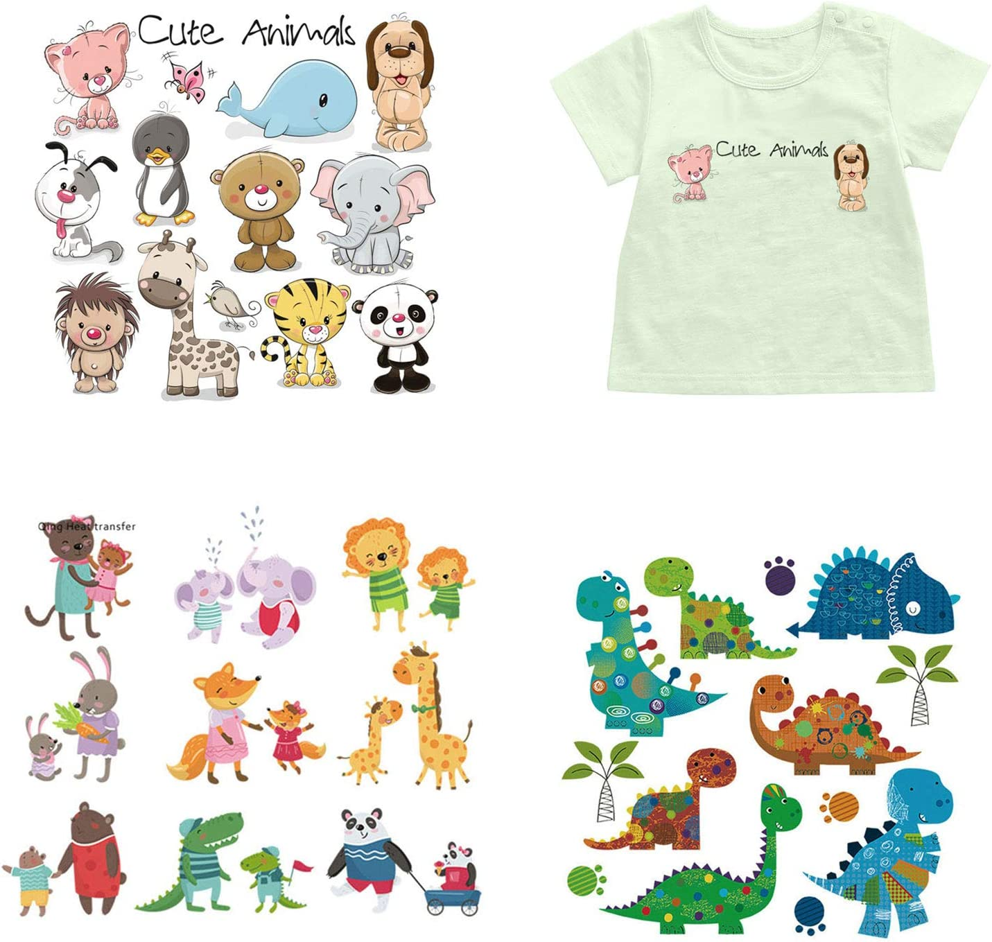 NY Iron on Factory outlet supreme Transfers Patches Sets Sheets for 3 Heat Animal Kids