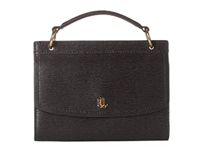LAUREN Ralph Lauren Saffiano Top-Handle Belt Bag (Black) Bags