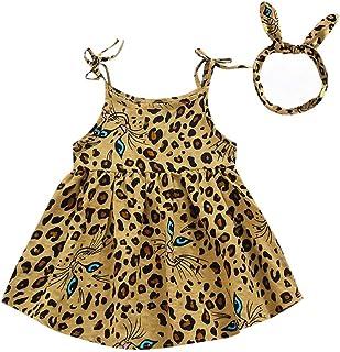 Alwayswin Sommerkleid Kinder M/ädchen /Ärmellos R/üschen A Line Kleid R/üschen Sonnenblume Hosen Kleidung Mode Wild L/ässiger Rock Elegant Sch/ön Sommerkleidung