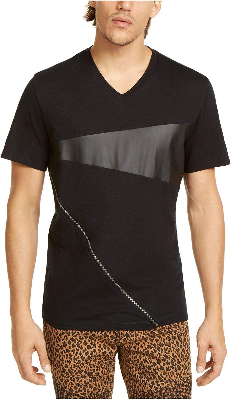 INC Mens Black Short Sleeve Classic Fit T-Shirt 2XL Big