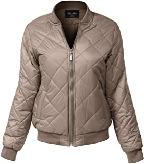 Women's Relaxed Fit Warm Padding Zipper Bomber Jackets