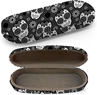 Tigers Tropical Hard Shell Glasses Protective Case with Cleaning Cloth for Eyeglasses and Sunglasses