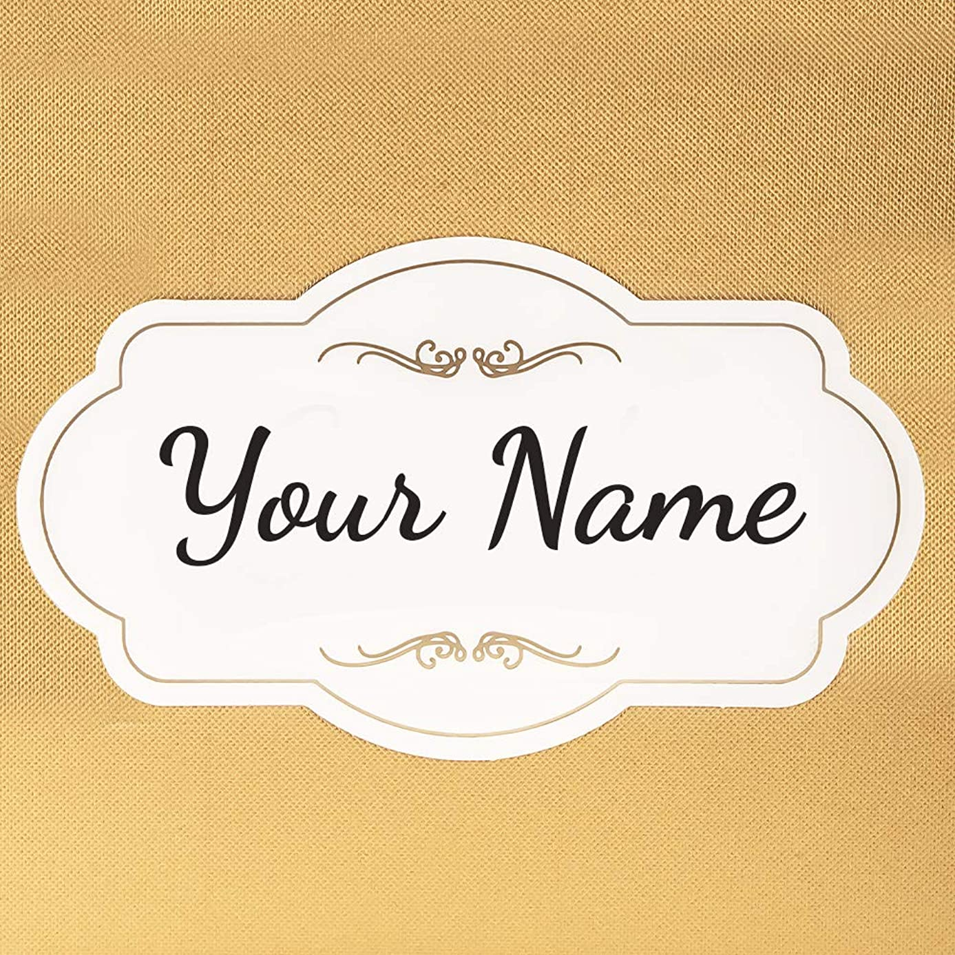 Personalized Custom Printed - Gold Foil Sign For Merry Expressions Gift Card Box 7.5