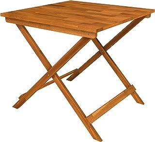 "Interbuild Sydney Wood Folding Patio Table 29.5"" x 29.5"" x 28.7"", Golden Teak"
