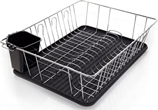 Home Intuition 3-Piece Dish Drying Rack Drainer Set 17