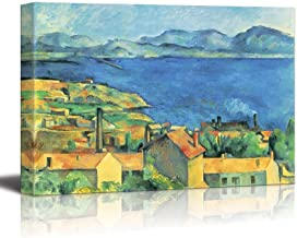 wall26 - Bay of Marseille, View from L'Estaque by Paul Cezanne - Canvas Print Wall Art Famous Painting Reproduction - 24