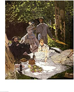 Dejeuner sur l'Herbe, Chailly, 1865 by Claude Monet Art Print, 24 x 32 inches