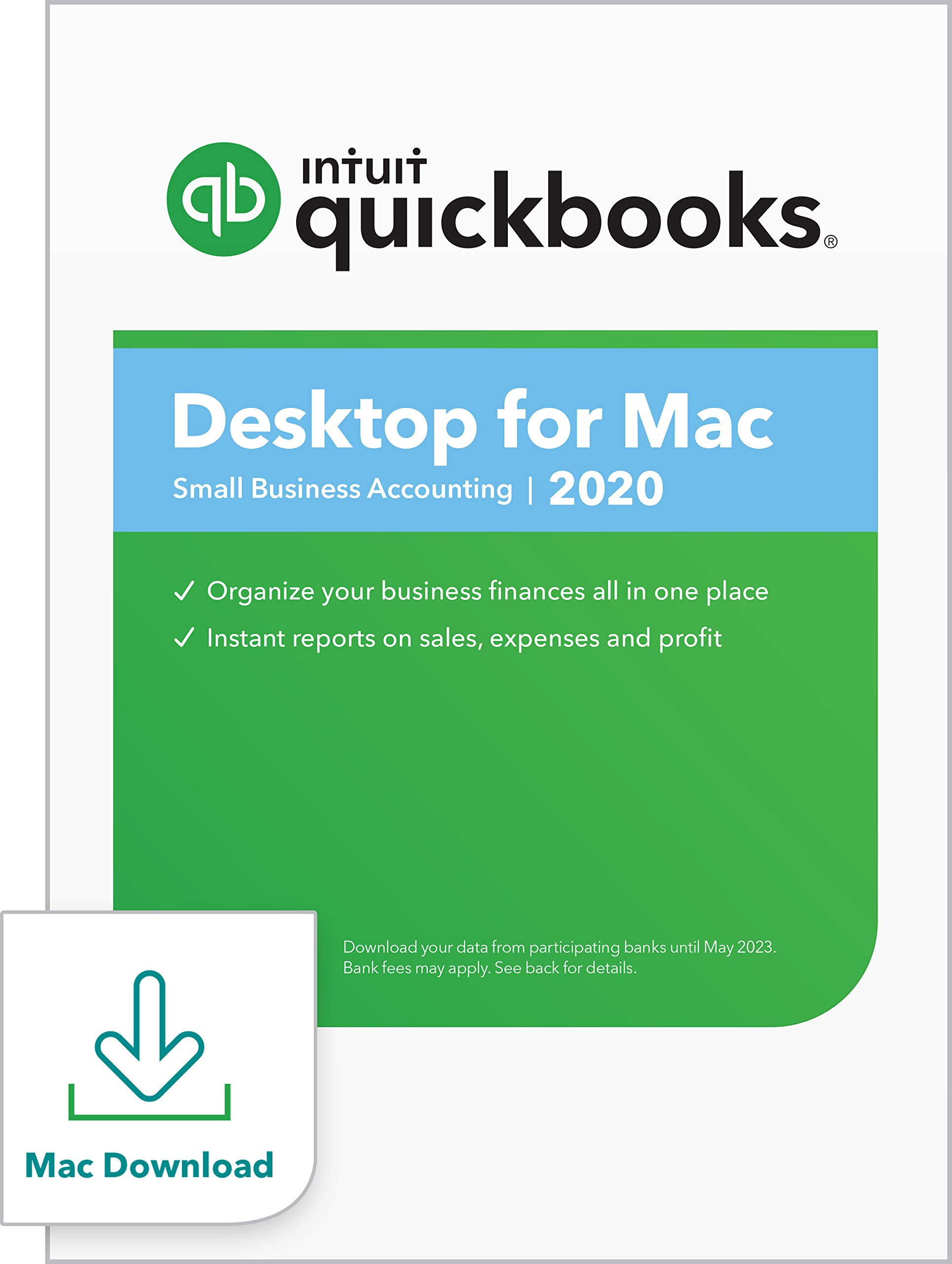 QuickBooks Desktop  for Mac 2020  Accounting Software for Small Business with  Shortcut Guide [Mac Download]