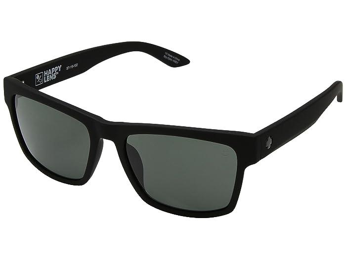 Spy Optic Haight 2 (Soft Matte Black/Happy Gray Green) Athletic Performance Sport Sunglasses