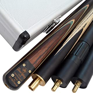 Jian Ying 3/4 Piece 57 inch Pro Handmade Snooker Cue, Case and Extension
